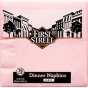 First Street Napkins, Dinner, Classic Pink, 3-Ply