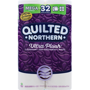 Quilted Northern Bathroom Tissue, Unscented, Mega Rolls, 3-Ply