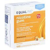 Equaline Stop Smoking Aid, 4 mg, Coated Gum, Fruit Flavor