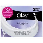 OLAY Quench Olay Daily Moisture Beauty Bar 4 oz, 2 count Personal Cleansing