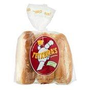 Teixeira's Bakery Rolls Hoagie - 6 CT