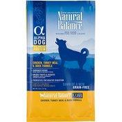 Natural Balance Alpha Dog Chicken Turkey Meal & Duck Grain Free Dry Dog Food