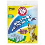 Arm & Hammer Medium to Large Deodorizing W/Baking Soda Absorbent Liners