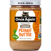 Once Again Peanut Butter, Crunchy, Unsweetened, Natural