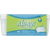 Always Cleansing Cloths Always Clean Wipes Tub 40 count  Feminine Care
