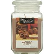 Enticing Aromas Scented Candle, Vanilla Clove