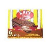 Kay's Chocolate Ice Cream Sandwiches