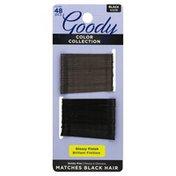 Goody Bobby Pins, Black, Glossy Finish