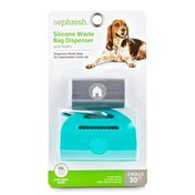 So Phresh Assorted Color Silicone Dog Waste Bag Dispenser With Refills
