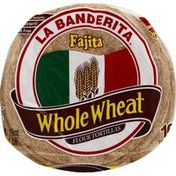 La Banderita Tortillas, Flour, Fajita, Whole Wheat