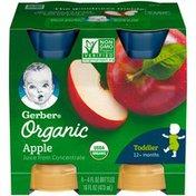 Gerber Organic Juice Organic Apple Gerber Organic Apple Juice