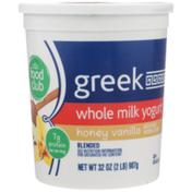 Food Club Honey Vanilla Blended Greek Whole Milk Yogurt
