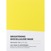 ACURE Biocellulose Mask, Brightening, 12 Pack