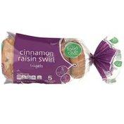 Food Club Bagels, Cinnamon Raisin Swirl, Pre-Sliced