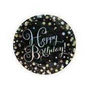 "Amscan 9"" Sparkling Celebration Happy Birthday Paper Plates"