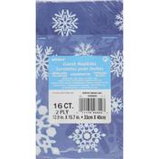 Unique Napkins, Guest, Winter Snowflake, 2 Ply