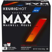 Maxwell House Boost Medium Roast K-Cup® Coffee Pods with 1.75X More Caffeine