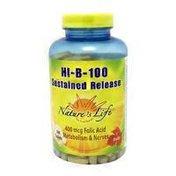 Nature's Life Hi-B-100 Sustained Release 400 mcg Folic Acid Metabolism & Nerves, Tablets
