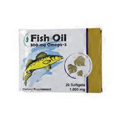 Herbal Inspiration Fish Oil 300 mg Omega-3 Dietary Supplement Softgels