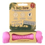 Beco Pets Natural Pink Bone Rubber Hollow Chew Toy for Dogs