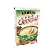 Best Choice Apple & Cinnamon Instant Oatmeal