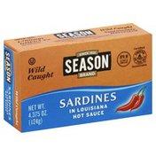 Season Sardines, in Louisiana Hot Sauce, Wild Caught