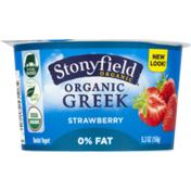 Stonyfield Organic Greek Nonfat Yogurt Strawberry