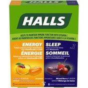 Halls Energy & Sleep Day and Night Lozenges Variety Pack