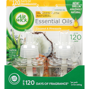 Air Wick Scented Oil Refills, Coconut & Pineapple,