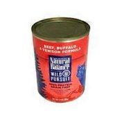 Natural Balance Beef, Buffalo & Venison Formula Wild Pursuit High Protein Grain Free Dog Food