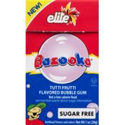 Elite Bazooka Flavored Bubble Gum Tutti Frutti Sugar Free