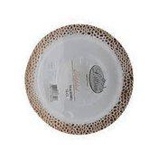 King Zak 14 Ounce Lillian Polished Rose Gold Pebbled Plastic Bowl