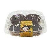 Gianna's Handmade Baked Goods Choc. Dipped Football Sugar Cookies