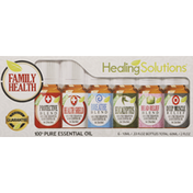 Healing Solutions Essential Oil, Family Health, 6 Pack