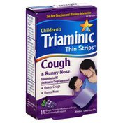 Triaminic Cough & Runny Nose, Medicated Strips, Grape Flavored
