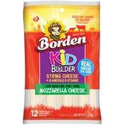 Borden Kid Builder Low-Moisture Part-Skim Mozzarella String Cheese