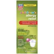 Rite Aid CHILDREN'S ALLERGY CETIRIZINE HYDROCHLORIDE 1 mg/mL ANTIHISTAMINE INDOOR & OUTDOOR ALLERGIES ORAL SOLUTION, BUBBLE GUM