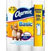 Charmin Basic™ Bathroom Tissue, Double Rolls