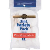 Best Choice 3 In 1 Variety Pack Cotton Swabs Rounds & Balls