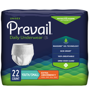 Prevail Incontinence Underwear for Men & Women, Extra Absorbency, Small