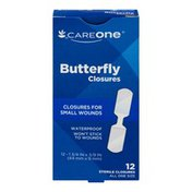 CareOne Butterfly Bandages, for Small Wounds