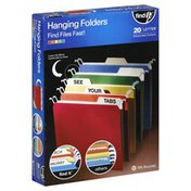 Find It Hanging Folders, Assorted Colors, Letter Size