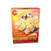 Meijer Baked Snack Crackers Cheddar Cheese