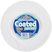 Springfield Coated White 9 In Paper Plates