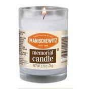 Manischewitz Candle, Memorial, White, Paraffin Wax