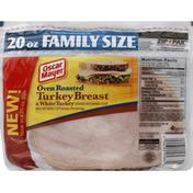 Oscar Mayer Turkey Breast & White Turkey, Oven Roasted, Family Size