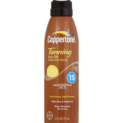 Coppertone Sunscreen, Dry Oil, Spray, Broad Spectrum SPF 15