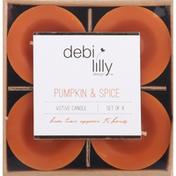 Debi Lilly Votive Candle, Pumpkin & Spice