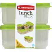 Rubbermaid Containers, 1.2 Cups, 2 Pack Ensemble