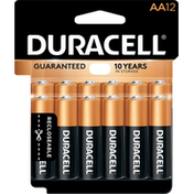 Duracell Batteries, Alkaline, AA, 1.5 V, 12 Pack